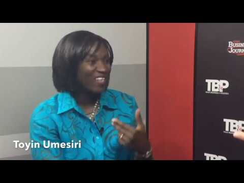 NWA Business Journal Editor Paul Gatling interviewing Toyin Umesiri, CEO Nazaru LLC