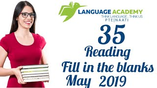 Most Repeated PTE Reading Fill In The Blanks May 2019 Practice With Answers Language Academy PTE