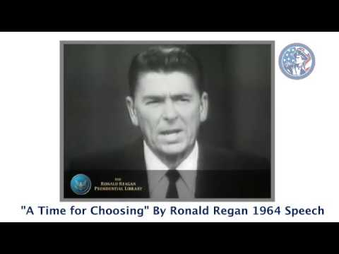 Ronald Reagan - 'A Time For Choosing' 1964 Speech for Barry Goldwater