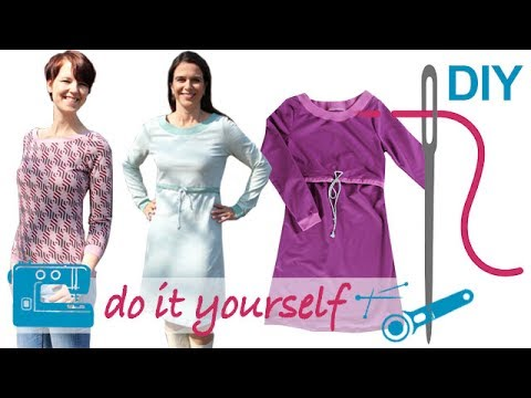 d70d0b864112b3 DIY Kleid nähen für Anfänger – Stillkleid Pullover – Zierstoff Schnittmuster