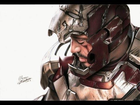 Drawing Iron Man Desenhando O Homem De Ferro Marvel Youtube