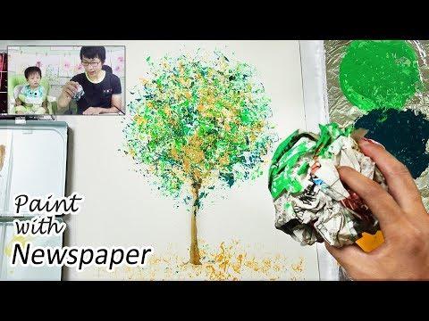 Crumpled Newspaper Painting Technique for Beginners | Heimtextil 2018 Frankfurt