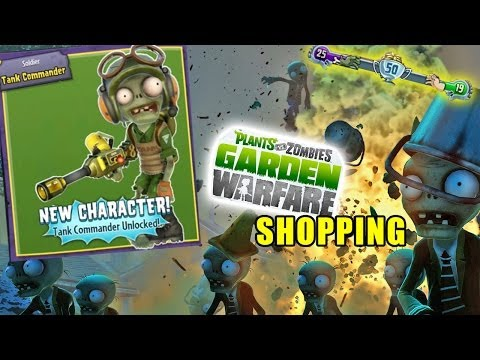 Rare Tank Commander Unlocked! Plants vs. Zombies Garden Warfare Spectacular Pack Shopping + Gameplay