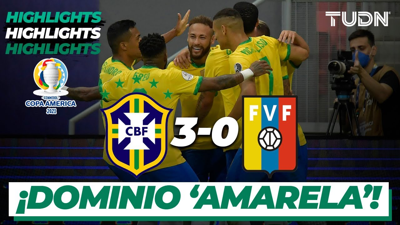 Download Highlights | Brasil 3-0 Venezuela | Copa América 2021 | GrupoB-J1 - Inauguración | TUDN