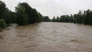 Crue du gave de Pau - débuts d'inondations - 12 et 13/06/2018