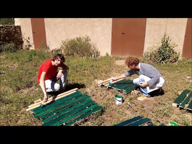 Fête du Parc   28 sept 2019   Peinture des enseignes Julien et Sylvian