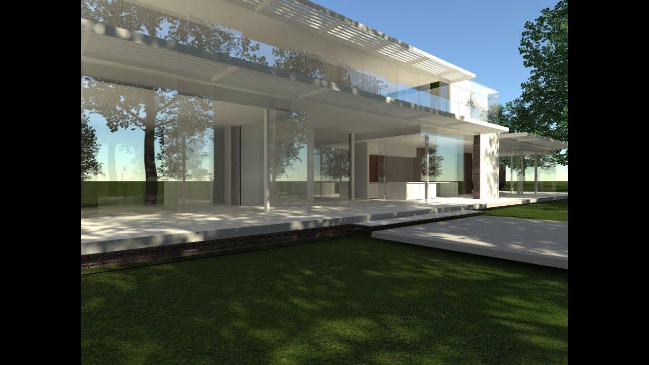 Luc spits architecture villa contemporaine projet for Architecture contemporaine