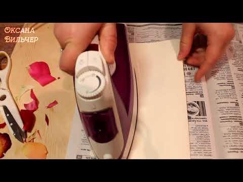 ��Сушим лепестки роз утюгом �� Как быстро высушить цветы��