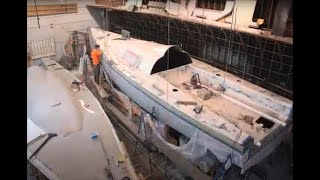 Timelapse Movie of the Construction of the Antrim 49 sailing yacht, Rapid Transit