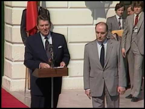 President Reagan's Meeting with President Francois Mitterrand of France on March 12, 1982