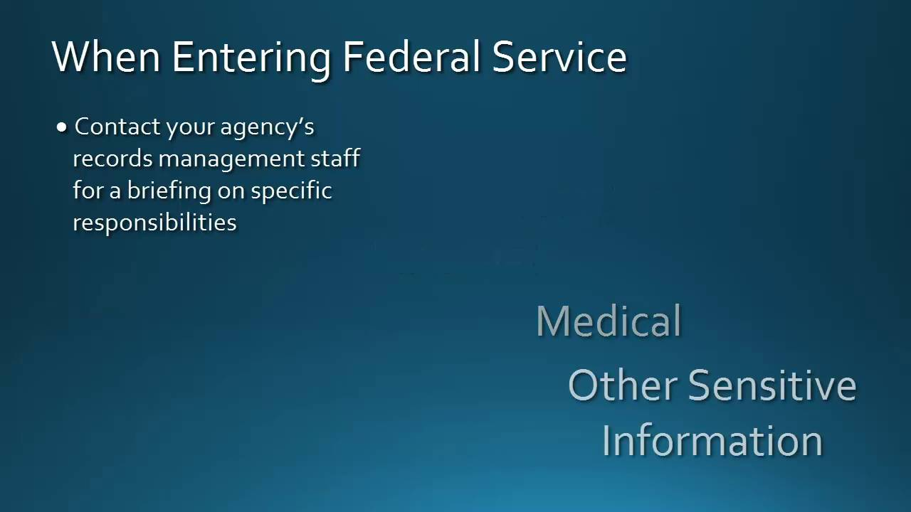 Documenting Your Public Service | National Archives