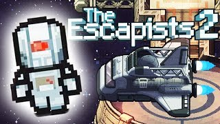 ROBOT BLITZ Escapes a SPACE STATION! - The Escapists 2 Gameplay