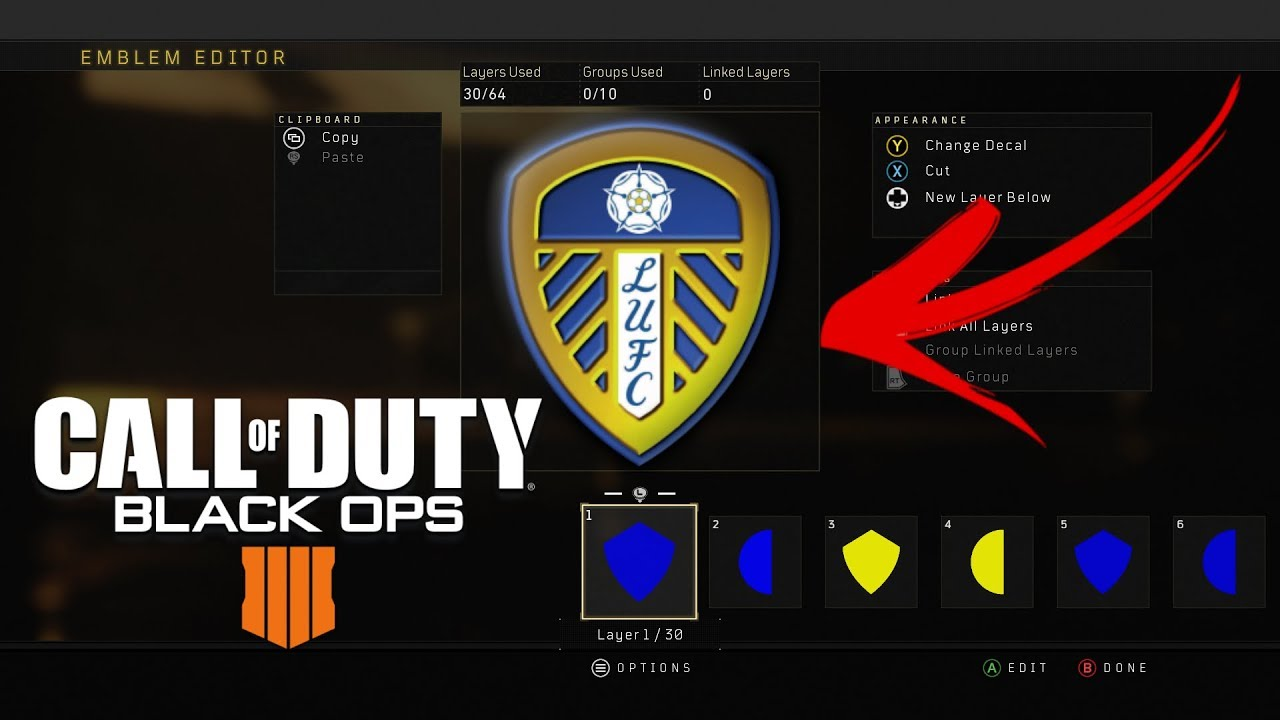 Call Of Duty Black Ops 4 How To Create A Leeds United Emblem Youtube