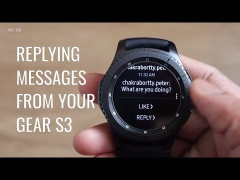 Replying Messages On Samsung Gear S3 | 2018
