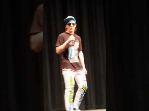 Mathias Dahl sings ice ice baby for the waterford mott high school Mr.Mott pageant
