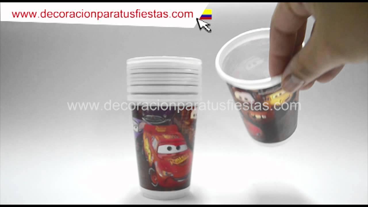 Vasos desechables para cumplea os infantiles con el tema - Decorar vasos plasticos para cumpleanos ...