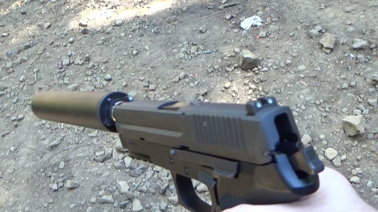 sig sauer sp2022 w suppressor youtube