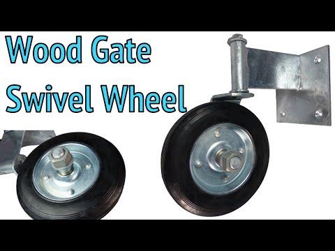 Wood Gate Swivel Wheel