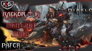 Diablo 3 RoS [Patch 2.4.1] Barbar Raekor + IK High-Grift Build + Spielweise ➥ Let's Build