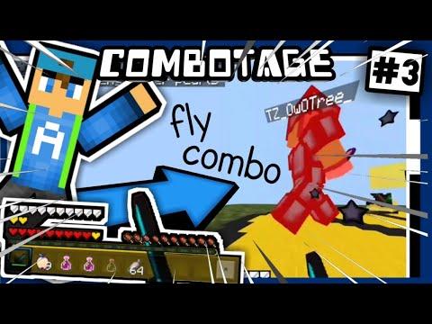 """✔""""Fly Combo!!"""" // COMBOTAGE V.3 // Minecraft PE PvP Montage [Zehox Server]"""