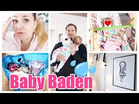 Familienzeit!  Wir baden Baby Philline  Babykleidung aussortieren 😰   Abgestillt?