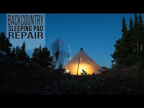How to Fix a Sleeping Pad, Backcountry Camping Mat Repair