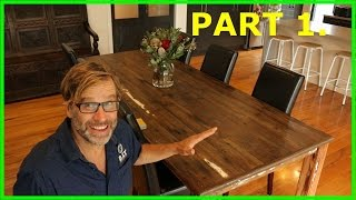 How to Build a Table. Awesome, Easy to Build Project! Part 1.