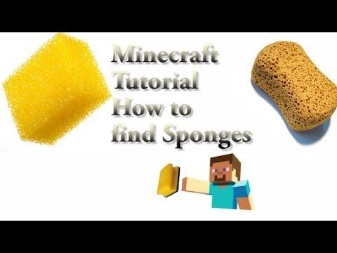 MINECRAFT TUTRIAL :HOW TO FIND SPONGE IN MINECRAFT (20 ABONENTENSPECIAL)