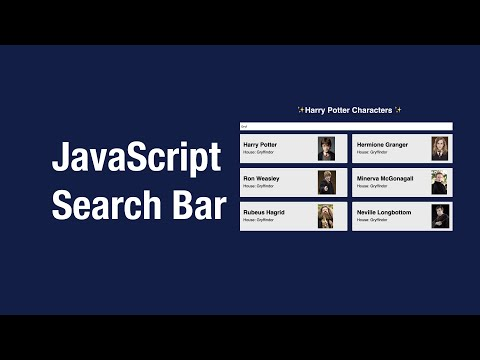 JavaScript Search Bar