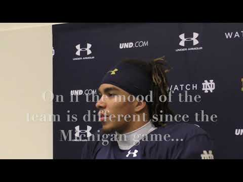 Chase Claypool Boston College Week Press Conference...