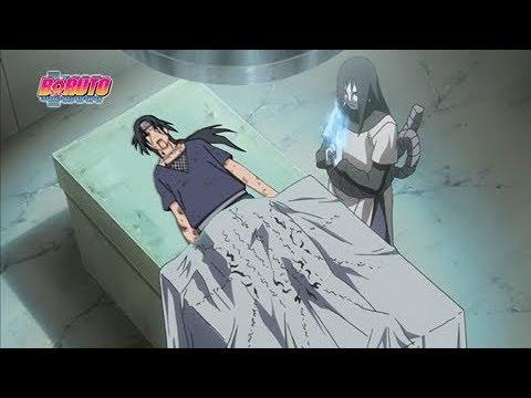 Orochimaru revive Itachi a pedido de Sasuke usando seu DNA - Boruto: Naruto Next Generations