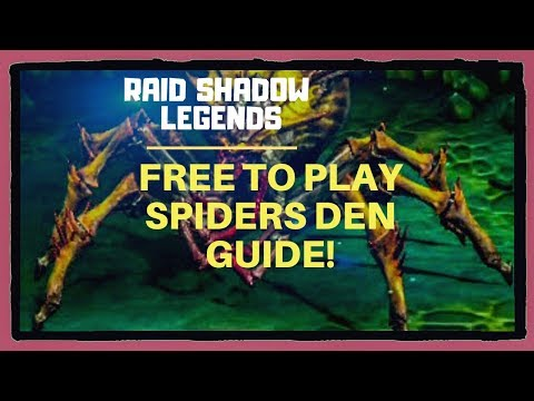 Free To Play Spiders Den Guide| Raid Shadow Legends| Beginners Guide
