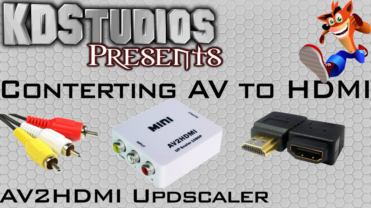 small resolution of how to convert av composite to hdmi av 2 hdmi review comparison converter box youtube