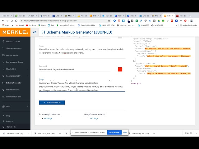 How To Create & Update A JSON-LD Schema in your Unboxd Live webpage