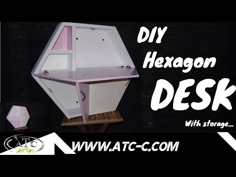 How to build your Hexagon DESK // DIY Modern design (for kids)
