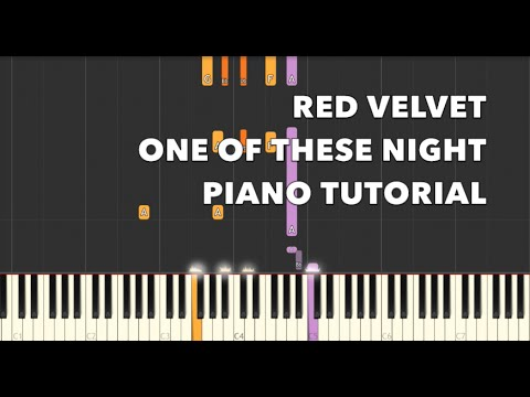 Red Velvet 7 7 One Of These Nightpiano Tutorial Youtube
