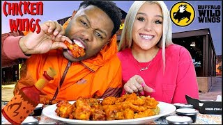 BUFFALO WILD WINGS MUKBANG🍗🎥(Nicole is starting her OWN channel)