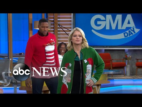 Willie Moore Jr. - WATCH!Michael Strahan and Sara Haines model Whoopi Goldberg's Christmas swe