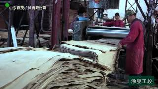 Engineered wood production process