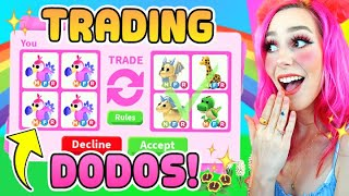 Trading ONLY Legendary DODO Pets In ADOPT ME! Roblox Adopt Me Fossil Egg Update