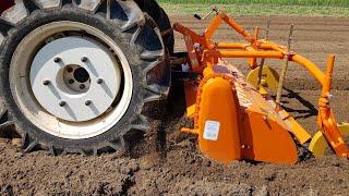 YANMAR F24D 4x4 i glebogryzarka czyli uprawa gleby pod sadzenie ziemniaków
