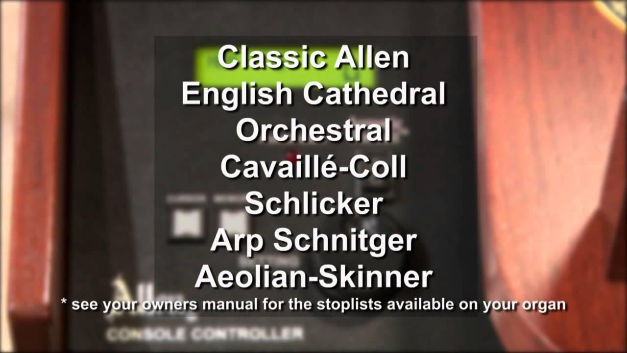 Allen Organ Manuals and Guides