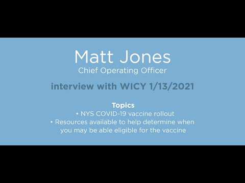 Matt Jones, Chief Operating Officer interview with WICY January 13, 2021