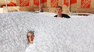 Download 1,000,000 Packing Peanuts Secret Hidden FORT Hide and Seek!! Mp3 and Videos