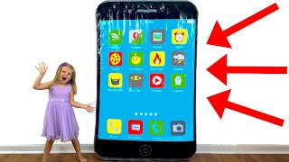 Pretend play Have fun with making giant phone and toys for kids