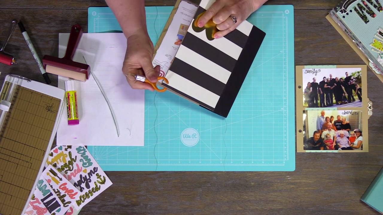 Lesson 1 How To Decorate An Album Cover Scrapbook Youtube