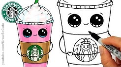 How to Draw a Starbucks Frappuccino Cute | Cartoon Drink