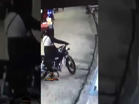Video: Momento del atraco realizado esta mañana a una banca de Lotería en Nagua.