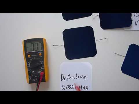 sunpower defective solar cells