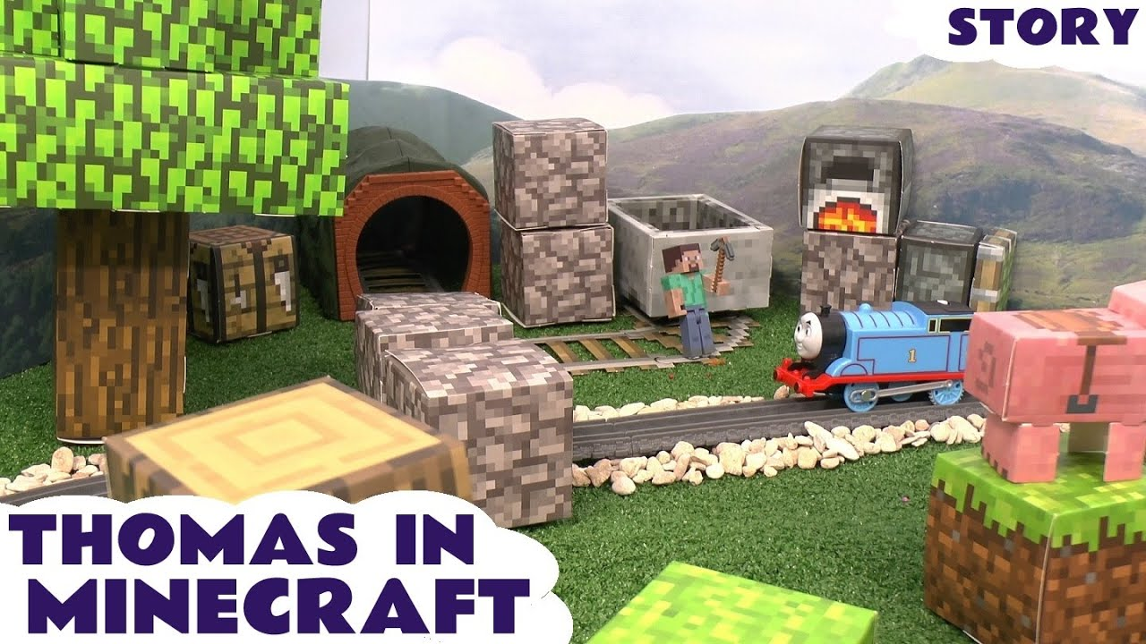 Papercraft Thomas The Tank Engine Minecraft Papercraft World Toy Story Episode Steve Creeper Enderman